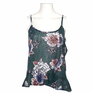 NWT Maurice's Dark Green Floral Tank Top